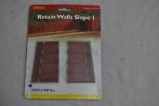 HORNBY LYDDLE END N8728 1:148 N SCALE Brick Retaining Wall Slope Pack 4
