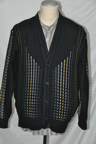 Pattern Gold Cardigan Gr Carlo Silver Black Colucci 50 qwg8UXP