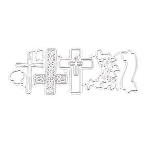 Stanzschablonen-Metall-Stanzformen-Kreuz-Silber-Schneiden-Schablonen-fuer-DIY
