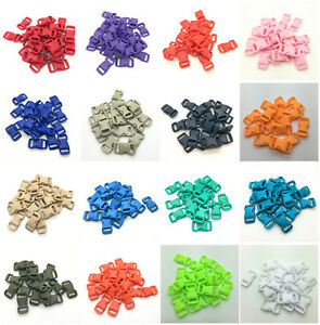 10-50-100pcs-3-8-034-Curved-Side-Release-Plastic-Buckle-for-Paracord-Bracelet-UK