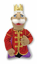 "KING ~ 17"" Tall  HAND PUPPET # 3890 ~ Very Detailed ~ Melissa & and Doug"