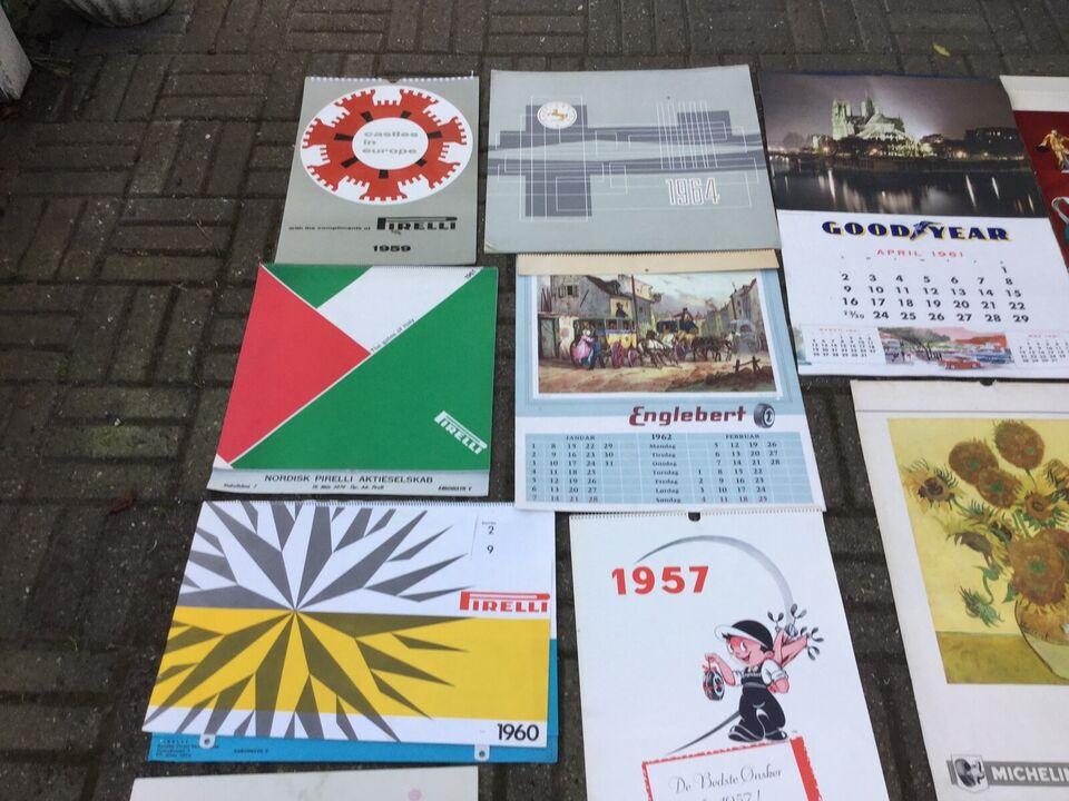 Dæk kalender fra 50/60 erne , Diverse