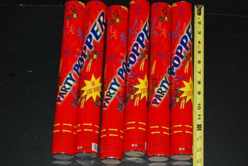 NO FIREWORKS Lot Of 48pc Party Poppers Confetti Shooter Cannon Streamer