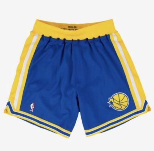 414686f52a9b Authentic Mitchell   Ness 95 96 Golden State Warrior Shorts Mens Size Large  for sale online