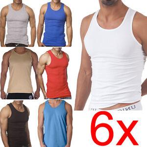 6-X-MENS-VEST-100-COTTON-GYM-TRAINING-TANK-TOP-T-SHIRT-NEW-SLEEVELESS-QUALITY