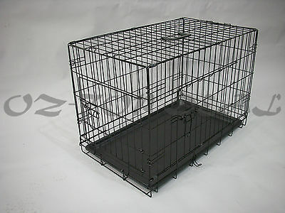 """30""""36""""42""""48 Metal Collapsible Pet Dog Rabbit Puppy Wire Cage Pen Crate Enclosure"""