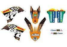 KTM GRAFICHE STICKERS DHL BLACK  EXC 08/11 SX 07/10 CRYSTAL