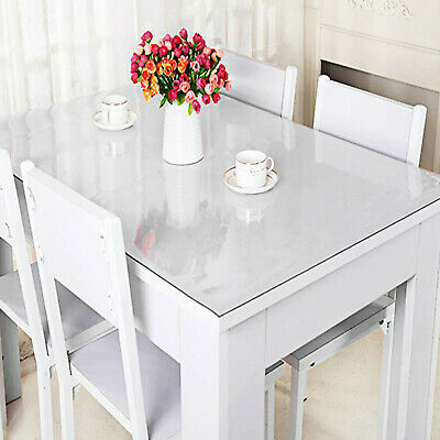 Linens Textiles 1 5 2mm Pvc Clear Tablecloth Waterproof Table Protector Dining Room Decor Home Garden Gefradis Fr