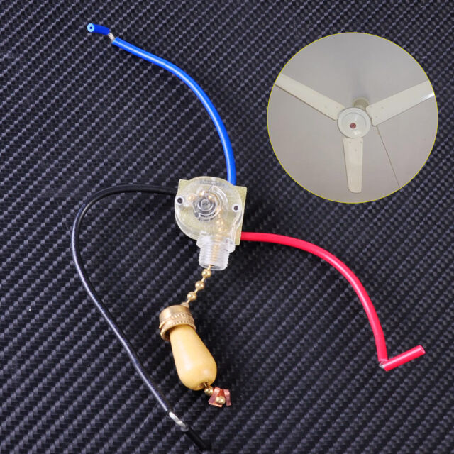 2x On/off Ceiling Fan Pull Chain Cord Switch Control Replacement ...