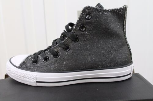 Black Mujeres Hi Silver Converse Bnib 10 s 551923c Up Lace Cats Trainer yFnIS1n