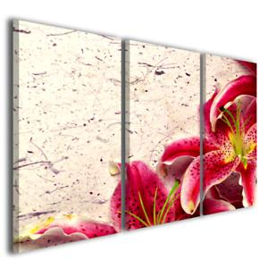 Quadro su tela stampe moderne Lilly fiori quadri moderni colorati ...
