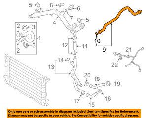 audi oem 10 17 s5 3 0l v6 cooling connector pipe 06e121065n ebay rh ebay com Audi 2012 Models Audi 5 Series