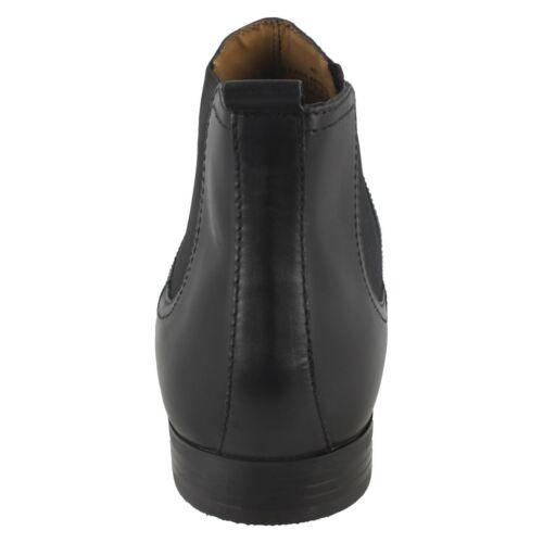 Botas sin los para de hombre en Chelsea cordones negro cuero de botines rxrUSBqZw7
