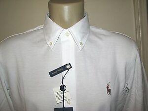 Homme (XXL) Polo-Ralph Lauren Blanc Tricot Piqué Chemise Oxford   eBay 08299c2be90