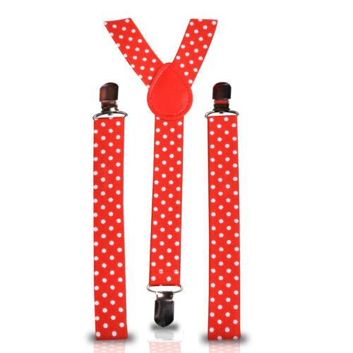 Unisex Herren Hosenträger Heavy Duty Metallclip Punkte /& Designiert Kostüm 25mm