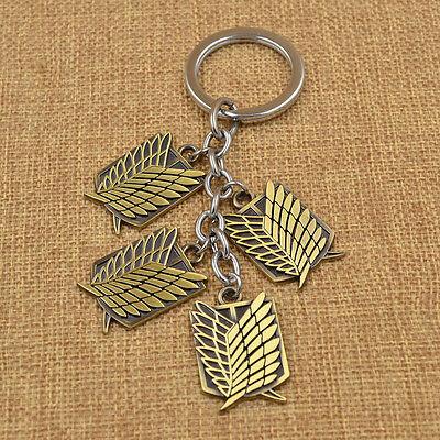 Attack on Titan Wings of Liberty Keychain Multi-Badge Key Ring Shingeki noKyojin