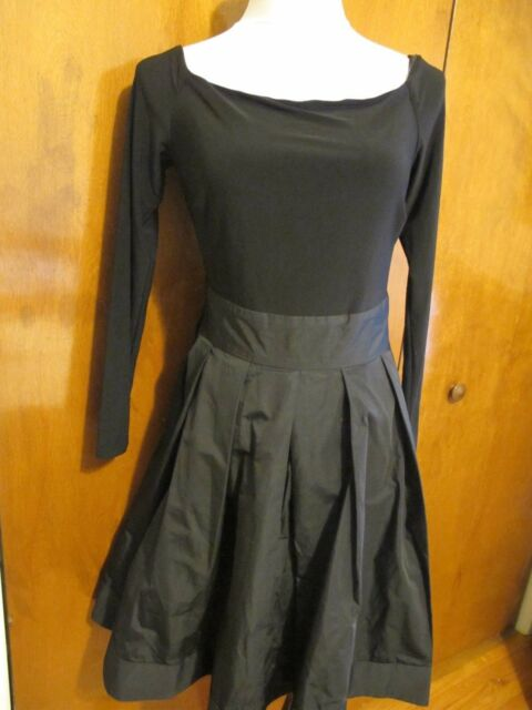 Lauren Ralph Women S Black Pleated Skirt Evening Dress Size 10 Nwt