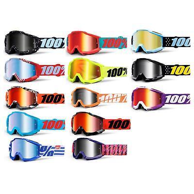 100% Accuri Jr Bambini Goggle Occhiali A Specchio Dh Mx Downhill Motocross- Essere Altamente Elogiati E Apprezzati Dal Pubblico Che Consuma