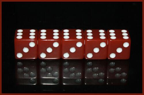 5 x Casino Würfel-Dice-W6-Craps shooting-Seven Eleven-Glücksspiel-Las Vegas-neu