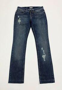 Pinko-jeans-donna-usato-slim-denim-W28-tg-42-strappati-destroyed-boyfriend-T5832