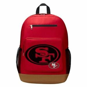24efa1e9 Details about The Northwest San Francisco 49ers NFL Playmaker Backpack  Red/Tan