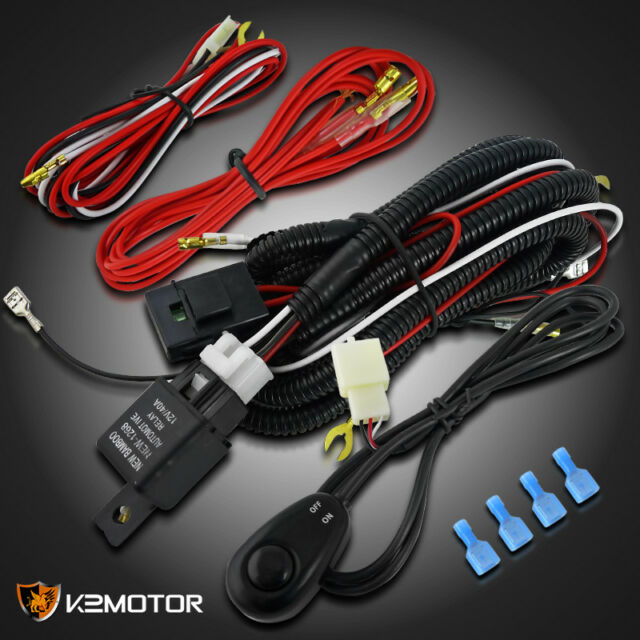 s l640 wiring harness relay switch kit for led spot work lights fog lamps