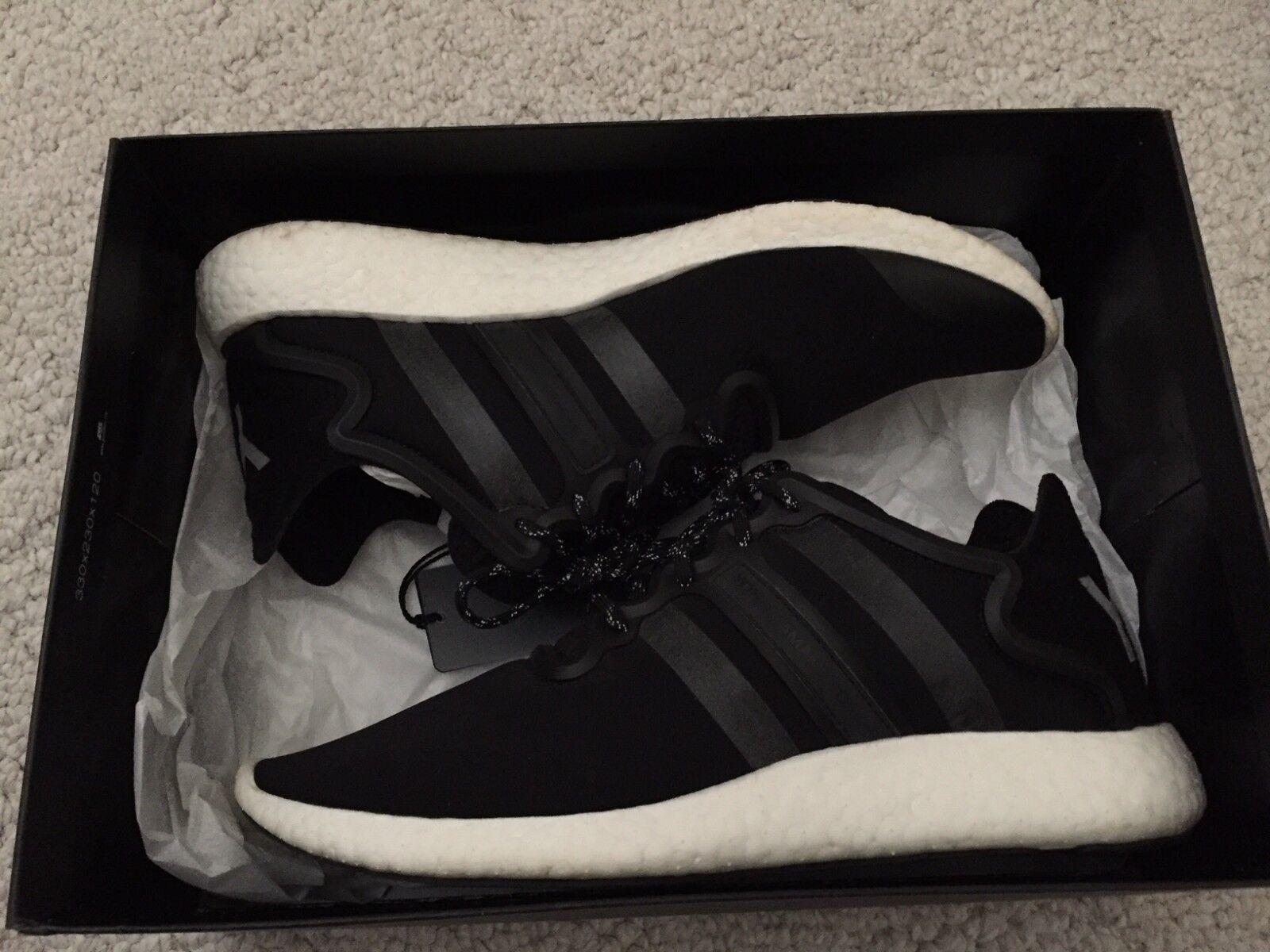 Mens Yohji Run Low-Top Sneakers Y-3 9.5 Pure Retro Boost Cream NMD Black Rare