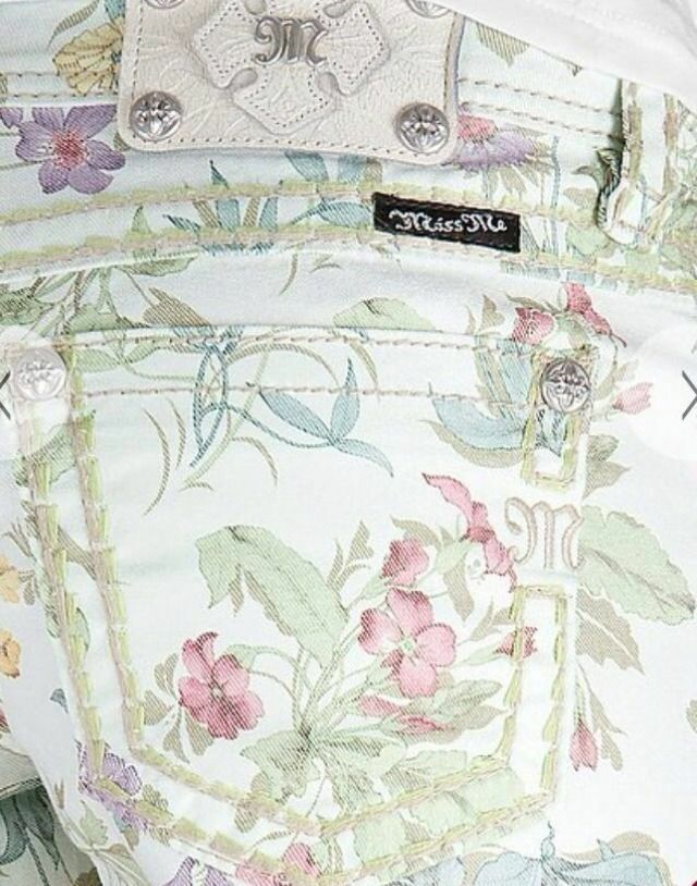 Miss Me Jean Shorts Sz 25 27 Womens Green Cargo Floral Print Women's  99