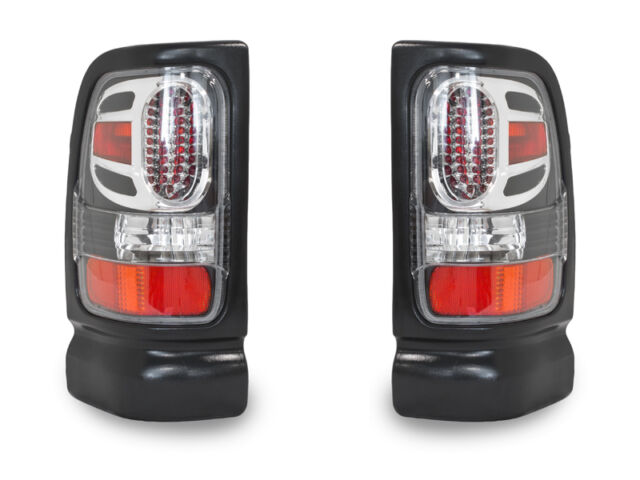 LAST SET 94-01 DODGE RAM PICKUP TRUCK 1500/2500 APC BLACK LED LOOK TAIL LIGHTS