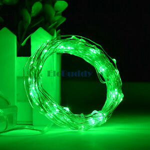 Green 10M 32FT 100 LED String Rope Light Battery Operated Portable Outdoor Party eBay