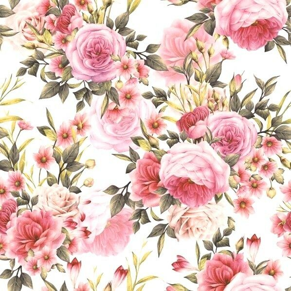 4 x Single Paper Napkins/3 Ply/Decoupage/Craft/Roses in Shades of Pinks