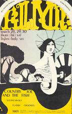Original Vintage Poster Country Joe & The Fish San Francisco Rock 1968