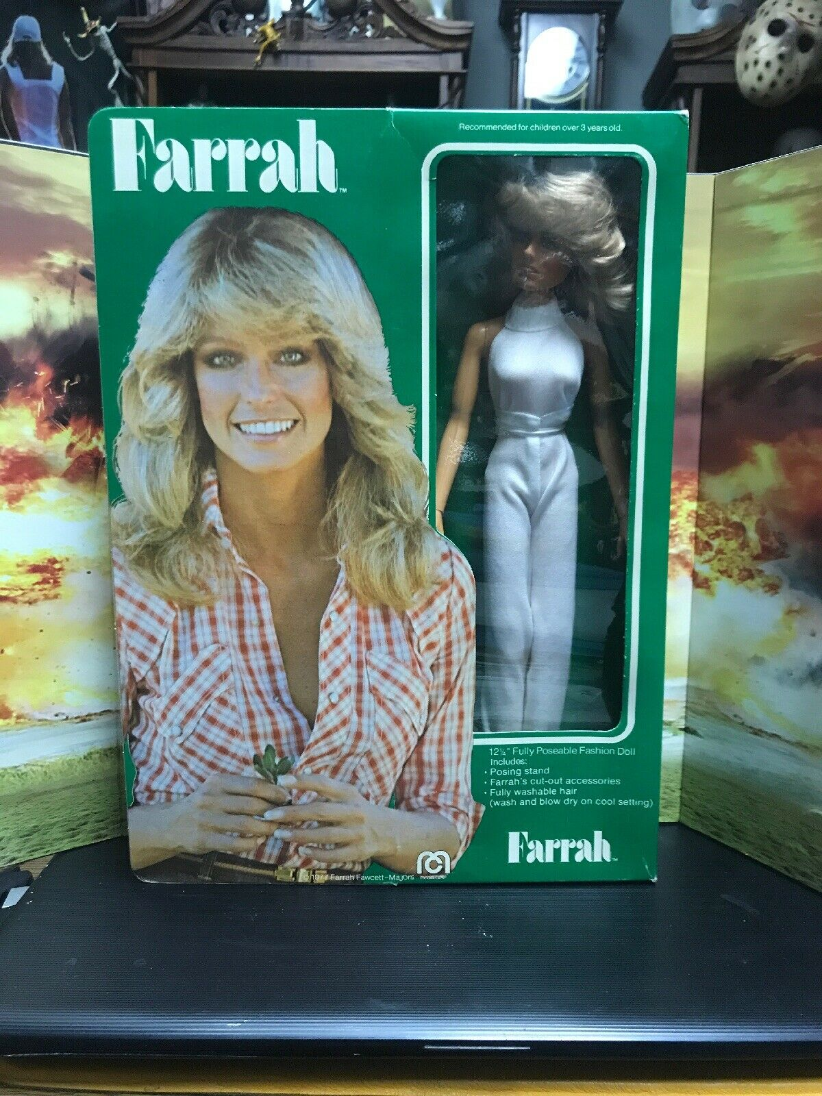 Farrah Fawcett Puppe Mego 1977 in Original Box