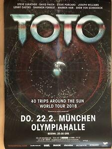 TOTO 2018 MÜNCHEN - orig.Concert Poster -- Konzert Plakat A1 NEU - Dreieich, Deutschland - TOTO 2018 MÜNCHEN - orig.Concert Poster -- Konzert Plakat A1 NEU - Dreieich, Deutschland