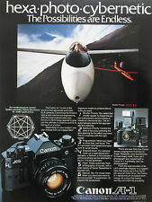 3/1981 PUB CANON A-1 APPAREIL PHOTO CAMERA PLANEUR SAILPLANE ORIGINAL AD
