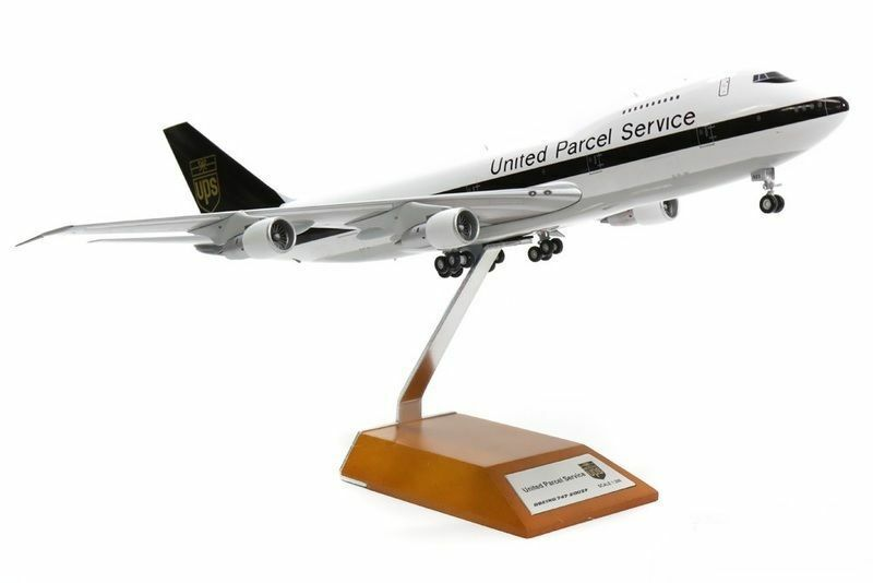 Jfox WB747UPS 1 200 BOEING 747-283B (SF) UPS N523UP CON SUPPORTO Ltd Edition 120 PZ