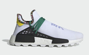 hot sale online 553cc d4bc0 Details about Adidas Pharrell Williams Human Race Nmd Hu Inspiration 8-13  White Green EE7583
