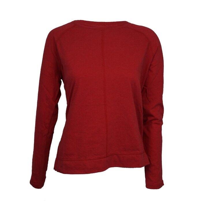 MADNESS Raglan Langarm Shirt Rot Damen Bio Baumwolle GOTS zertifiziert organic