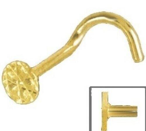 Nasenstecker mit Spirale 750 Gold Nasenpiercing rund diamantiert