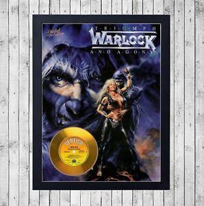 WARLOCK-Triumph-and-Agony-DORO-CUADRO-CON-GOLD-CD-EDICION-LIMITADA-FRAMED