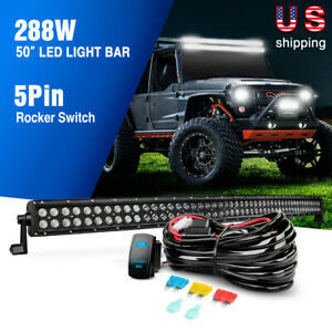 Details about Nilight 50 inch 288W Black Curved LED Light Work Bar on