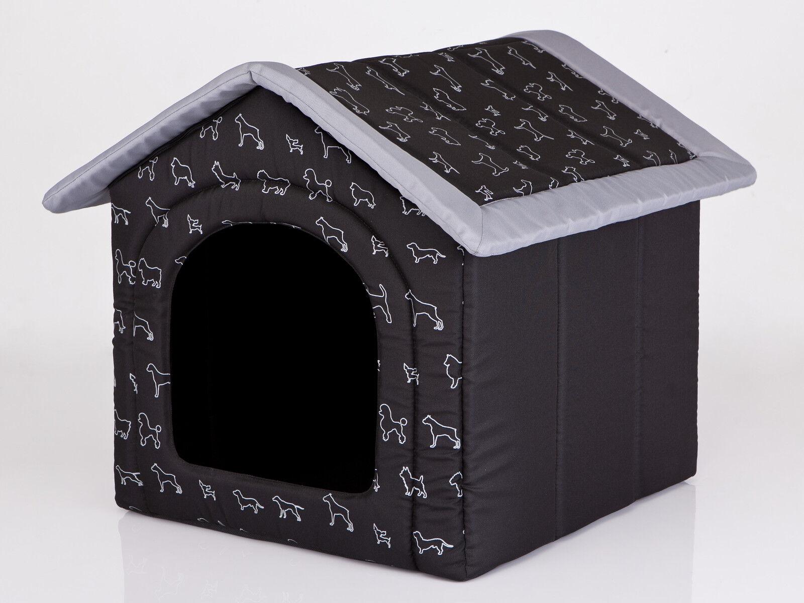 Cani grotta Hobbydog cani casa Cuccia Nero con cani r3  52 x 46 cm