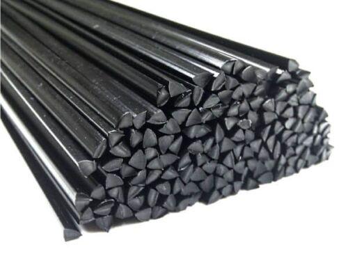 Plastica filo di saldatura pp+em1 4mm tre Kant NERO 380mm 25 BARRE