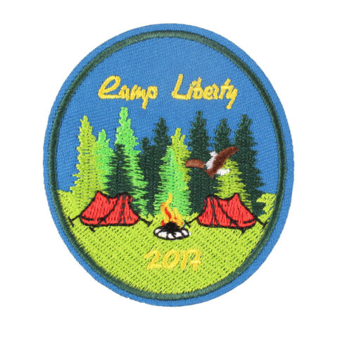 """Camp Liberty Outdoor Embroidered Iron ON Patch Clothes Badge DIY 2.7x3/"""""""