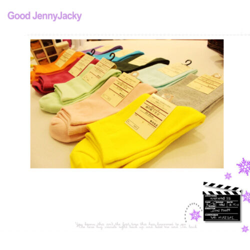 Candy Color Soft Cotton Socks Comfortable for Girls Ladies Women