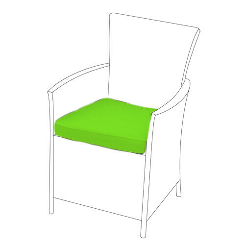 Lime 6 pack de remplacement chaise salle à manger coussins pour s/'adapter en rotin meubles de jardin
