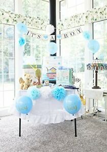 Baby Shower Decorations For Boy Party Set With Banner Sash Blue
