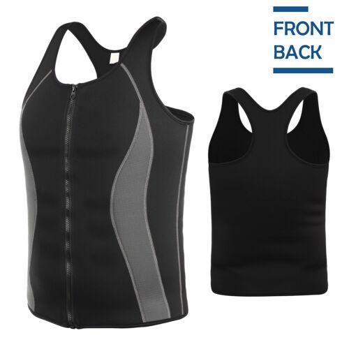 Men/'s Neoprene Sweat Hot Sauna Suit Muscle Training Fitness Workout Shirt Shaper
