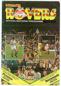 Football Double Programme  Doncaster Rovers v PrestonBournemouth Div 3 1982 - <span itemprop=availableAtOrFrom>London, London, United Kingdom</span> - Football Double Programme  Doncaster Rovers v PrestonBournemouth Div 3 1982 - London, London, United Kingdom