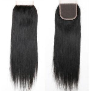 Virgin-Brazilian-Silky-Straight-Lace-Closure-Unprocessed-Human-Hair-4x4-Closure